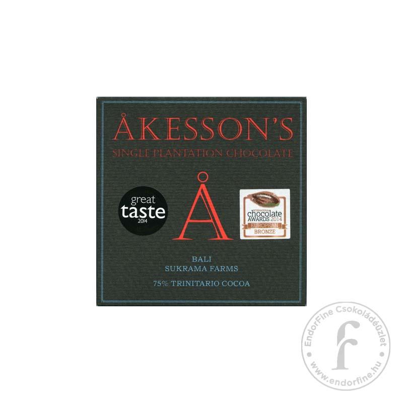 Akesson's 75%-os étcsokoládé (Bali) 60g