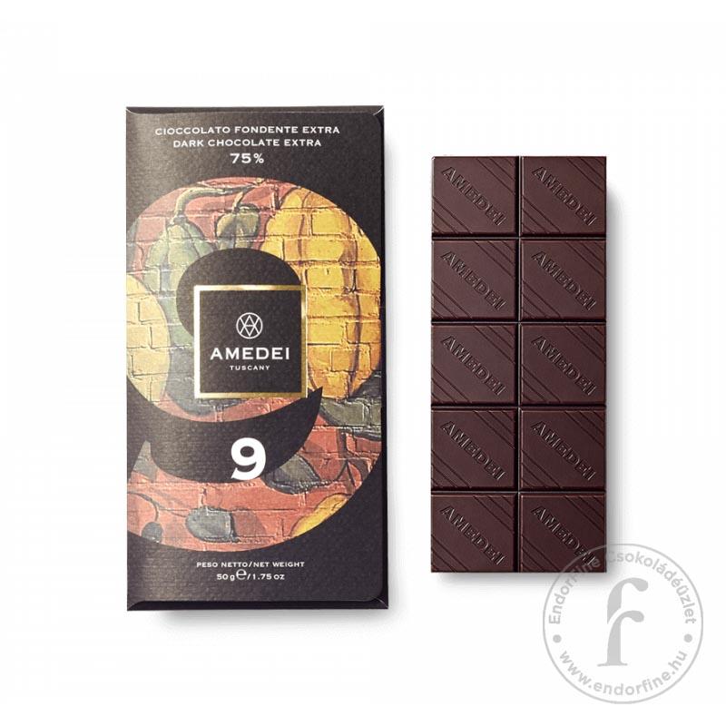 """Amedei """"9"""" 75%-os étcsokoládé 50g"""