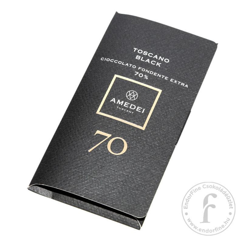 """Amedei """"Toscano Black"""" 70%-os étcsokoládé 50g"""