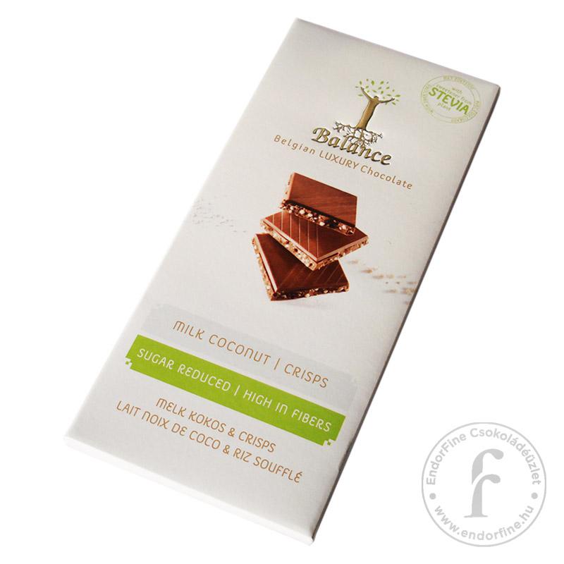 Balance Kókuszos 36%-os tejcsokoládé 85g - cukormentes