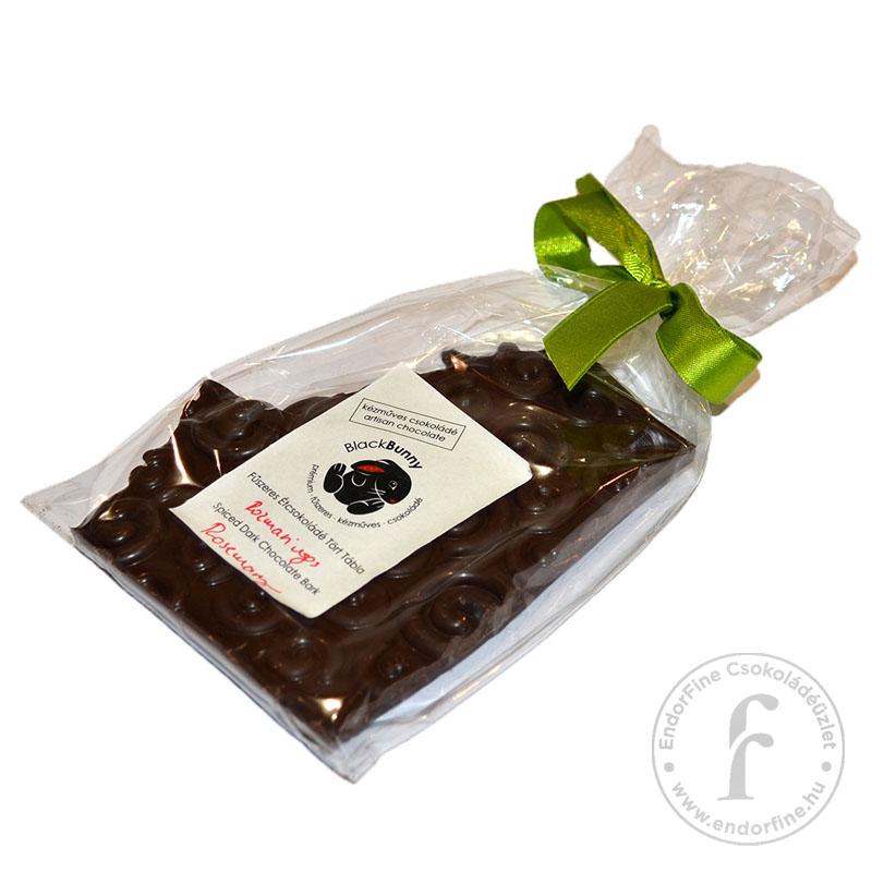 BlackBunny Rozmaringos 55%-os étcsokoládé tört tábla 100g