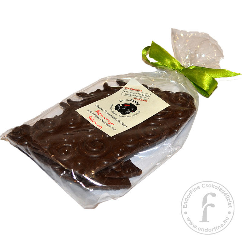 BlackBunny Rozmaringos 55%-os étcsokoládé tört tábla 100g - cukormentes