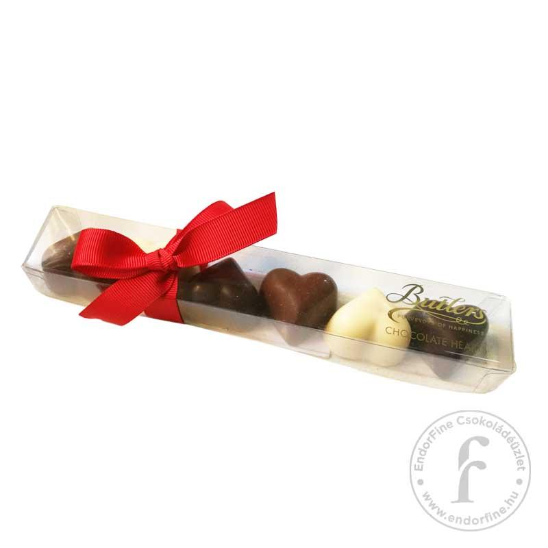 Butlers Csokoládé szívek díszdobozban 75g