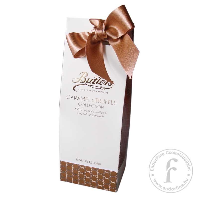 Butlers Tejcsokoládés trüffel és csokoládés karamell díszdobozban 100g