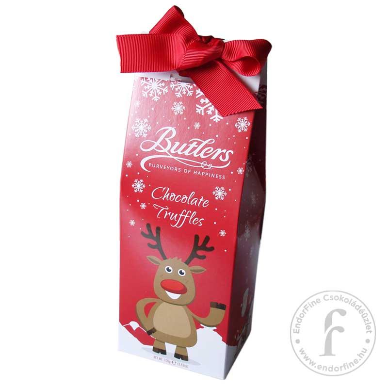 Butlers Trüffelkrémes tejcsokoládé desszert rénszarvasos csomagolásban 100g