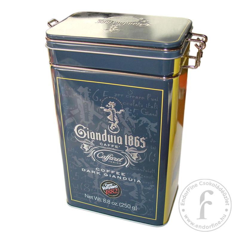 Caffarel Kávés étcsokoládé gianduja desszert fém dobozban 250g