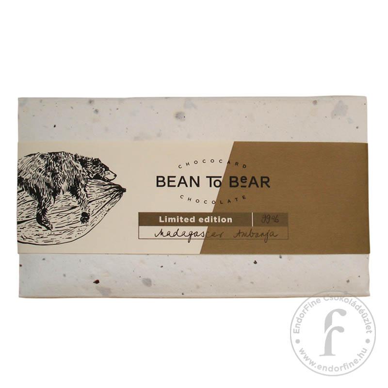 """ChocoCard """"Bean to Bear"""" 99%-os étcsokoládé (Madagascar) 80g"""