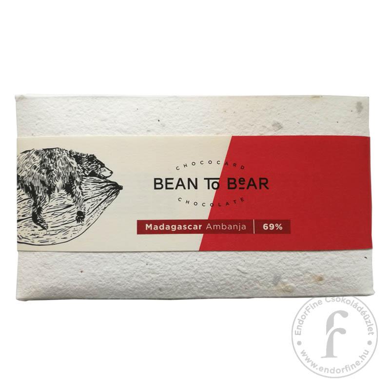 """ChocoCard """"Bean to Bear"""" 69%-os étcsokoládé (Madagascar) 80g"""