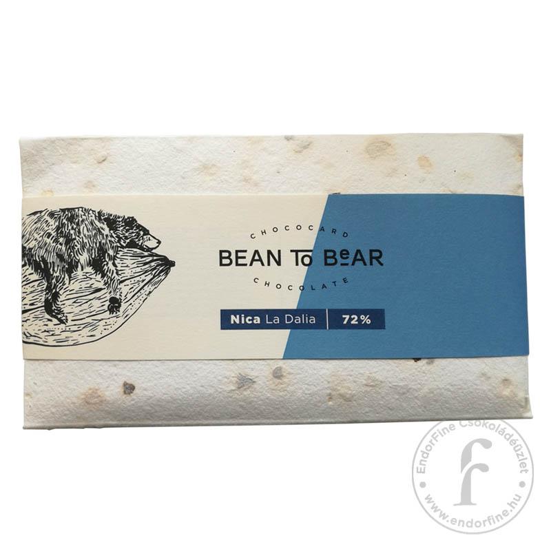 """ChocoCard """"Bean to Bear"""" 72%-os étcsokoládé (Nicaragua) 80g"""