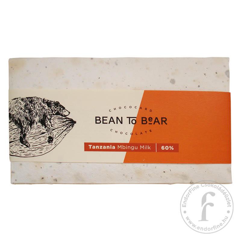 """ChocoCard """"Bean to Bear"""" 60%-os tejcsokoládé (Tanzania) 80g"""