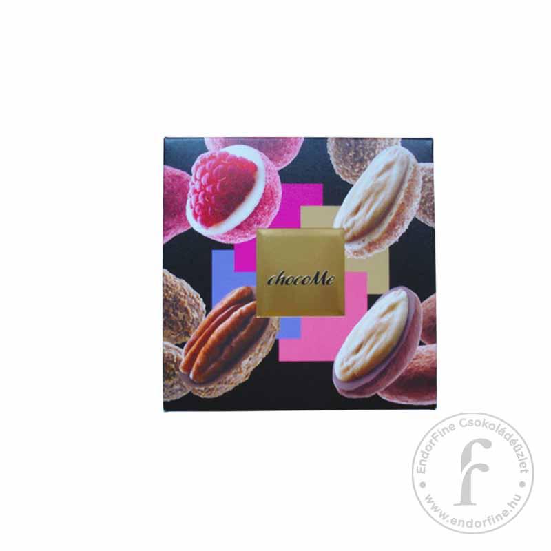 """ChocoMe """"Raffinée 4"""" Fehér-, szőke- és tejcsokoládés drazsé válogatás (4x40g) 160g"""