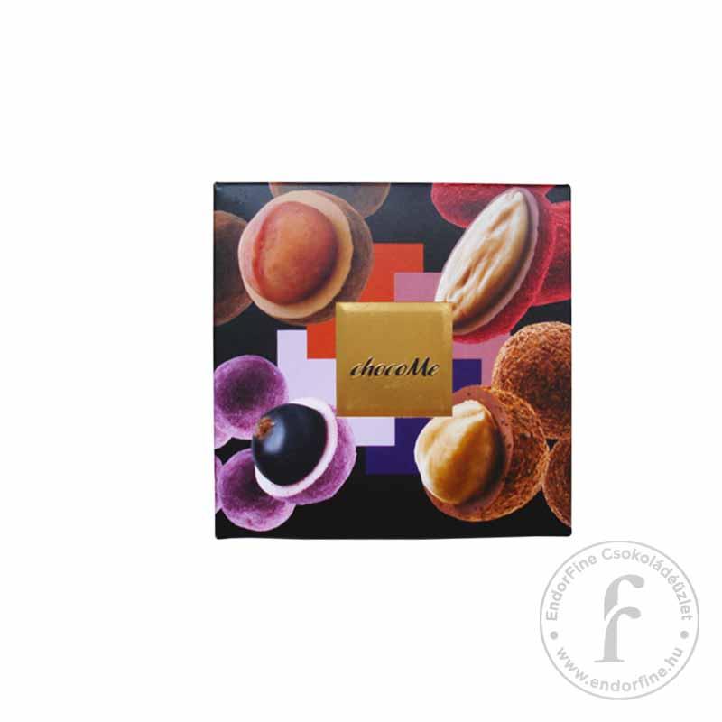 """ChocoMe """"Raffinée 4"""" Fehér-, szőke- ruby- és tejcsokoládés drazsé válogatás (4x40g) 160g"""