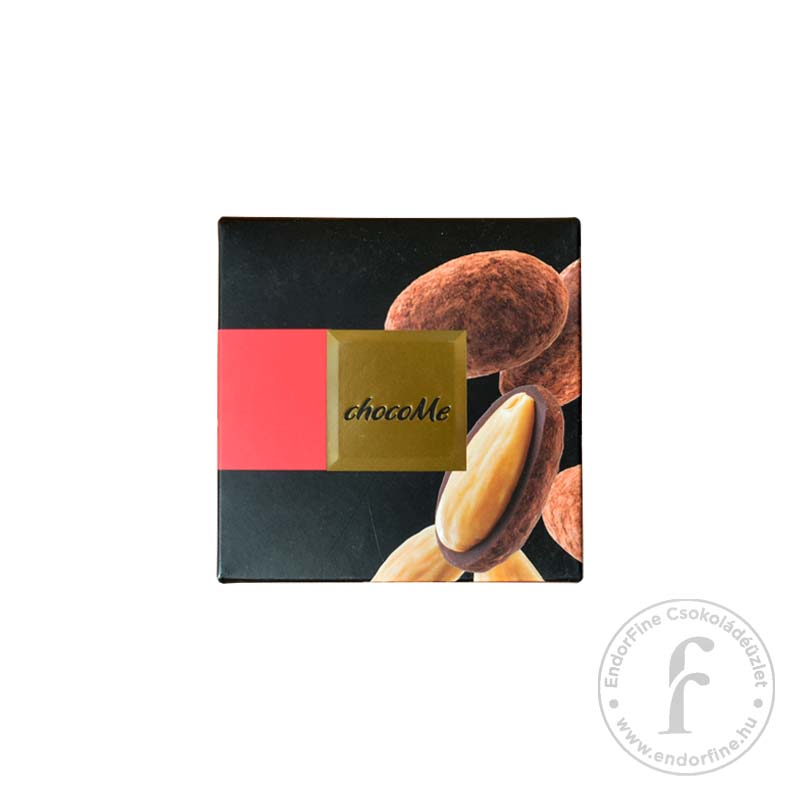 """ChocoMe """"Raffinée"""" Mandula vadborsos-kakaóporos 64%-os étcsokoládéban 120g"""