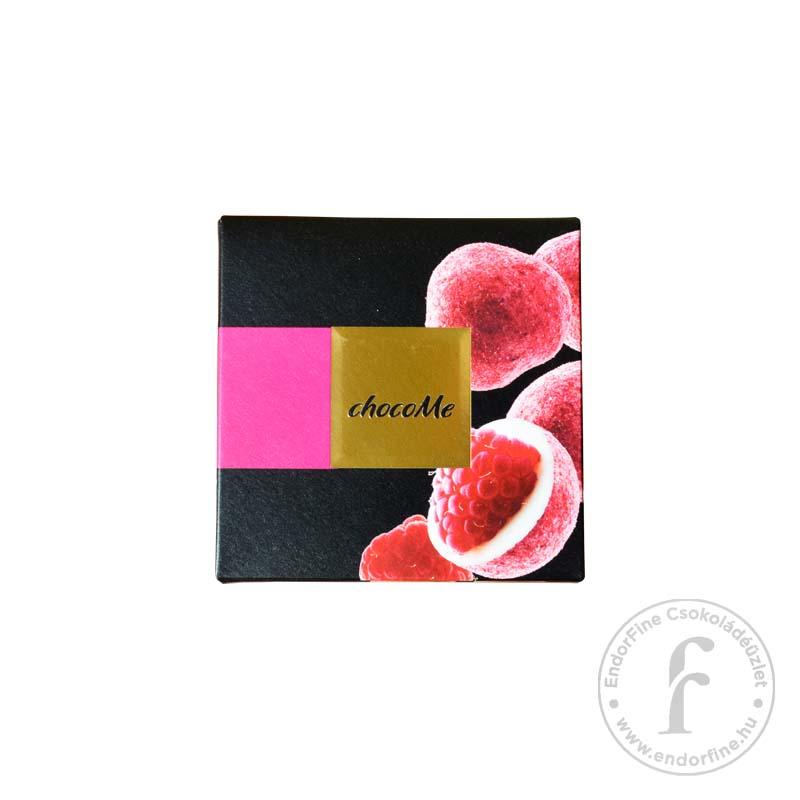 """ChocoMe """"Raffinée"""" Liofilizált málna 28%-os fehércsokoládéban 120g"""