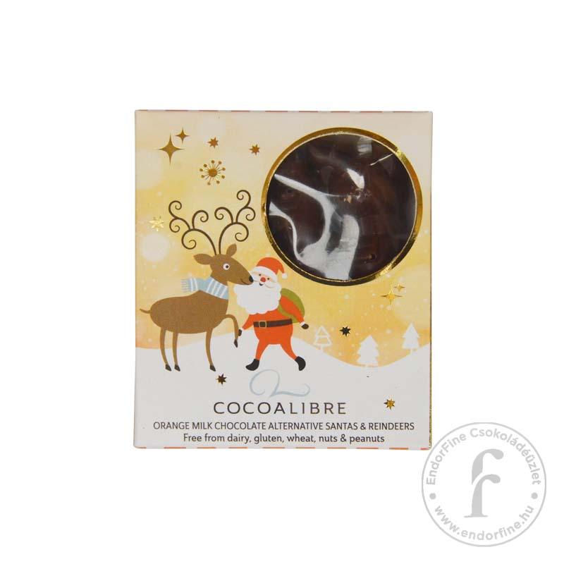 Cocoa Libre Tejmentes narancsos tejcsokoládé Mkulások és rénszarvasok rizstejjel 60g