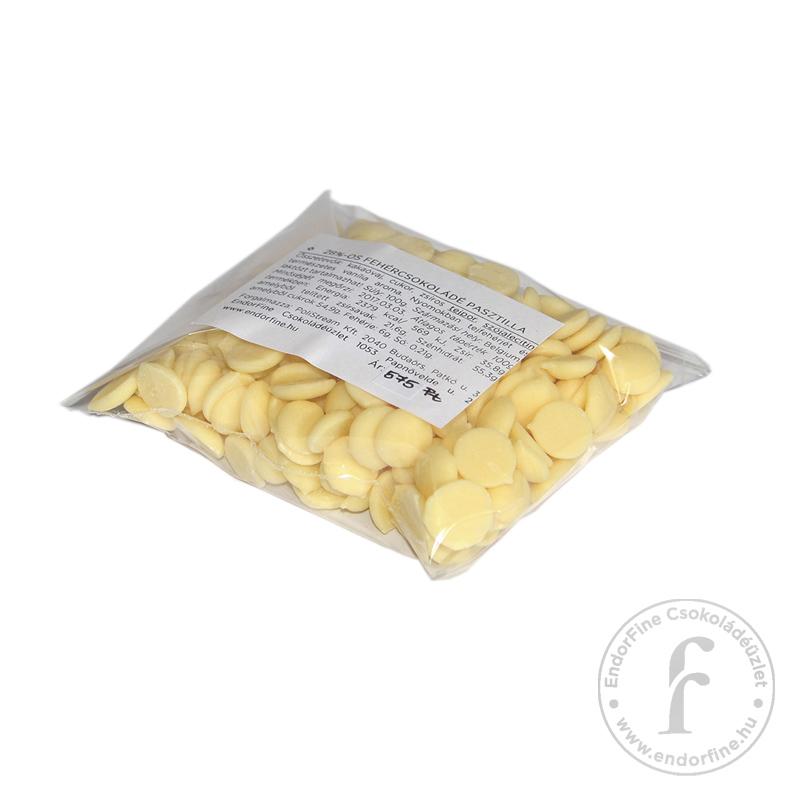 EndorFine 28%-os fehércsokoládé pasztilla 100g