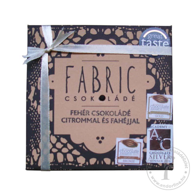 Fabric Citromos-fahéjas 33%-os fehércsokoládé 85g