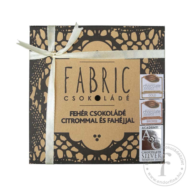 Fabric Citromos-fahéjas 33%-os fehércsokoládé 75g
