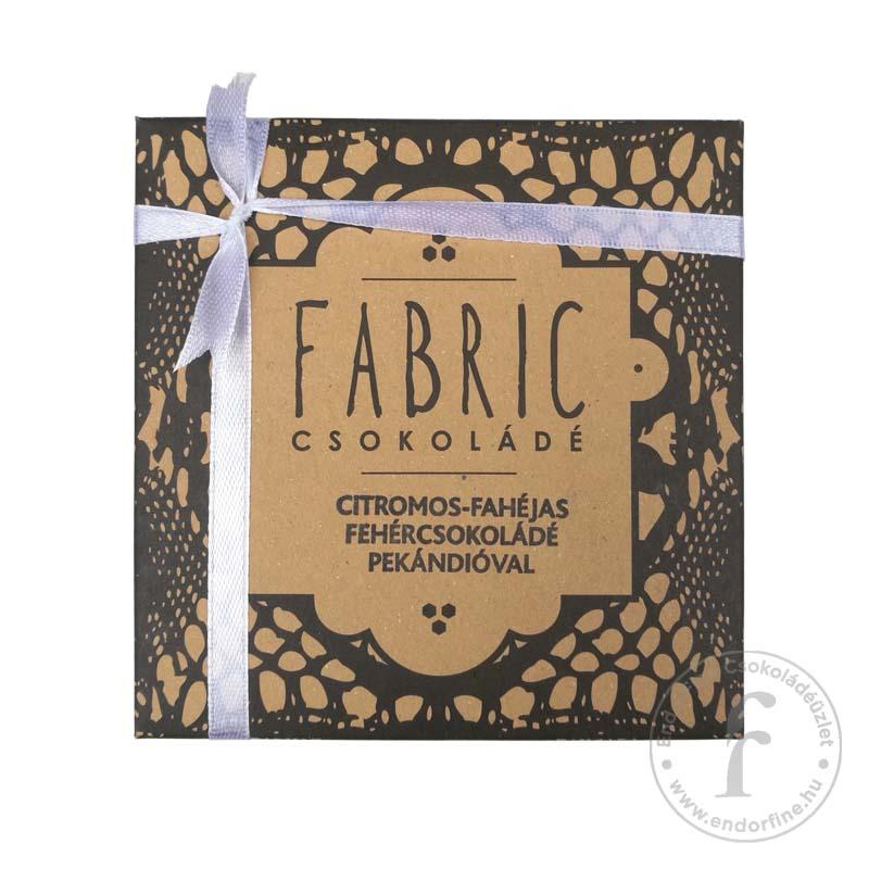 Fabric Citromos-fahéjas 33%-os fehércsokoládé karamellizált pekándióval 75g