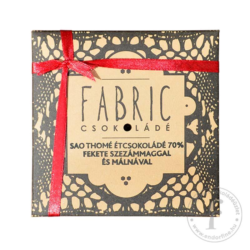 Fabric Fekete szezámmagos-málnás 70%-os étcsokoládé 75g