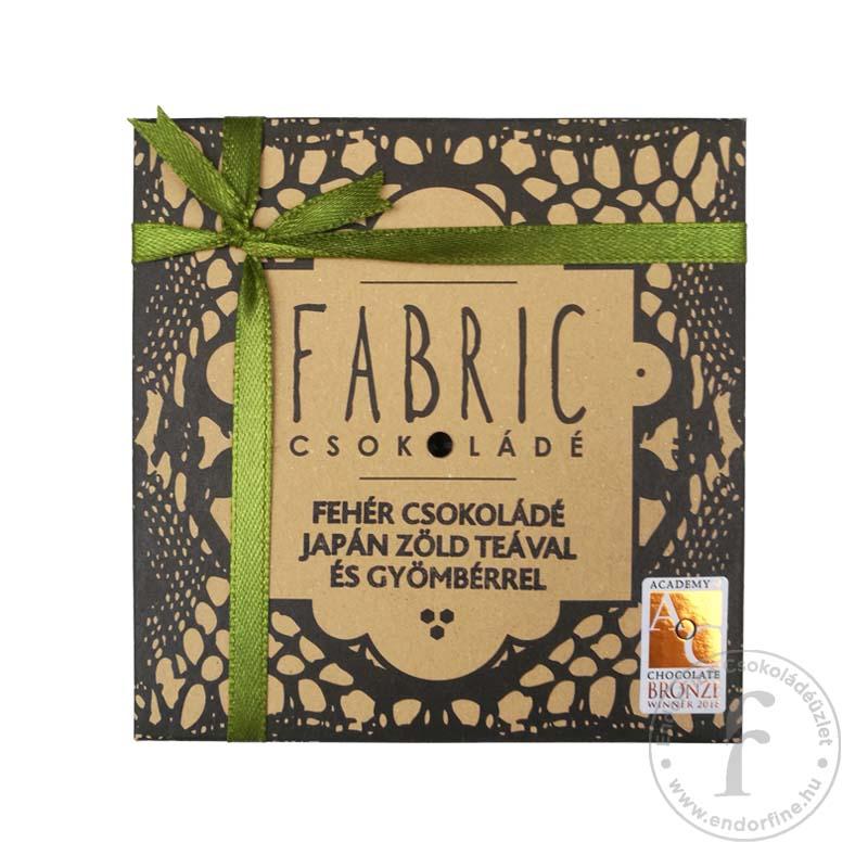 Fabric Japán zöld teás-gyömbéres 33%-os fehércsokoládé 75g