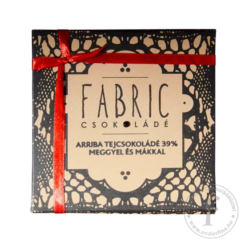 Fabric Aszalt meggyes-mákos 39%-os tejcsokoládé 85g