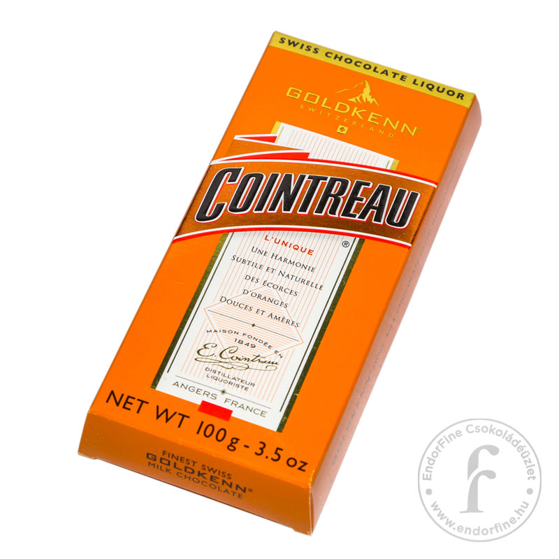 Goldkenn Cointreau likőrrel töltött 37%-os tejcsokoládé 100g