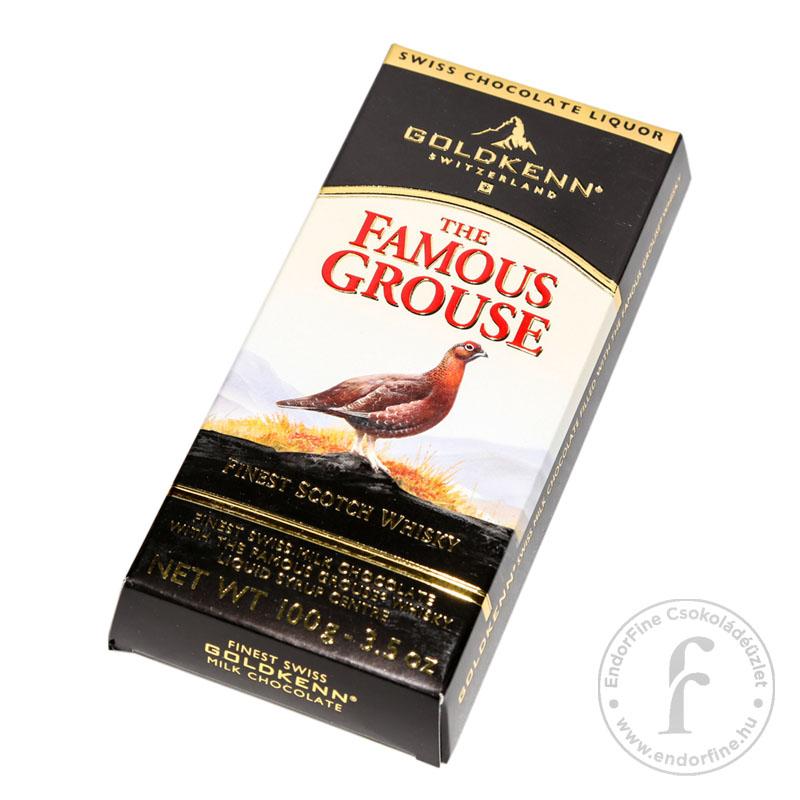 Goldkenn The Famous Grouse whiskyvel töltött 37%-os tejcsokoládé 100g