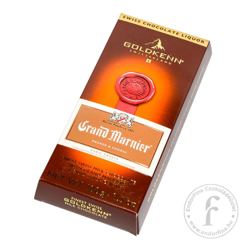 Goldkenn Grand Marnier likőrrel töltött 37%-os tejcsokoládé 100g