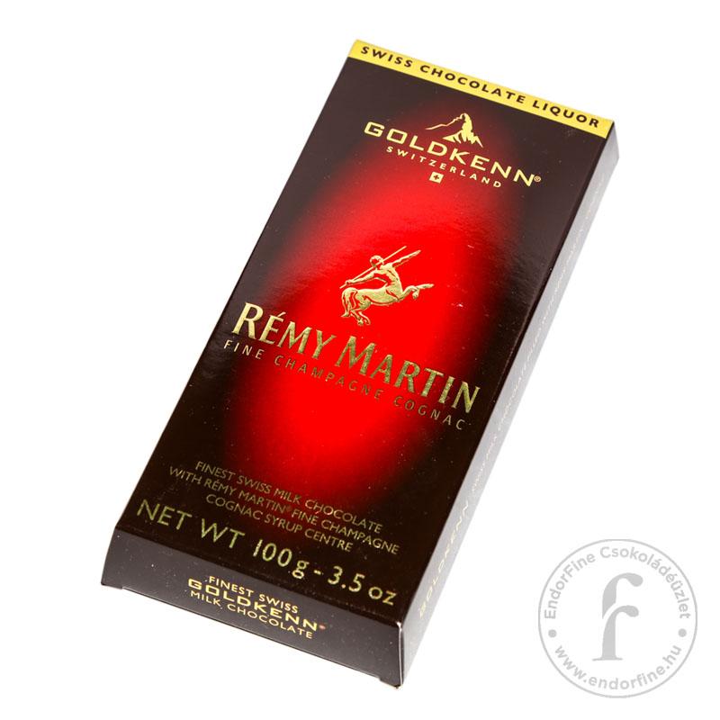 Goldkenn Rémy Martin konyakkal töltött 37%-os tejcsokoládé 100g
