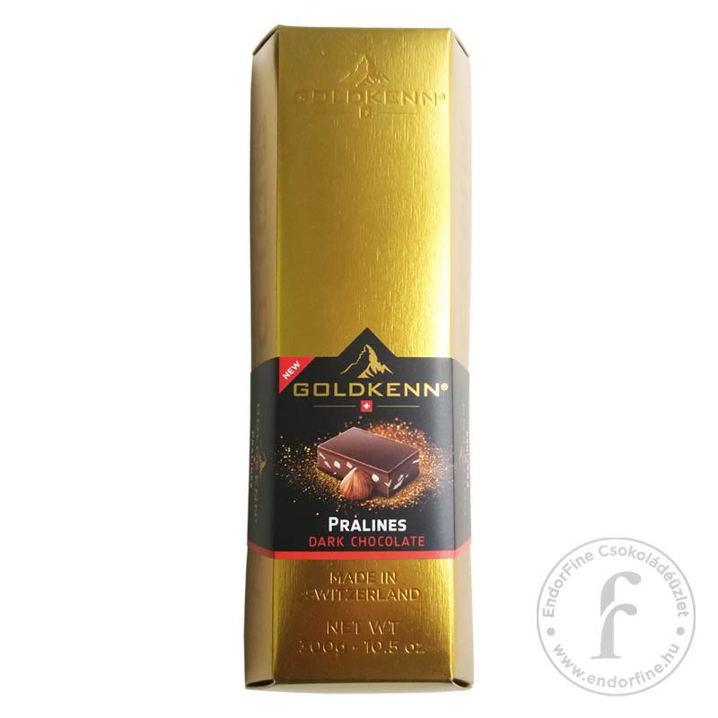 Goldkenn Mogyorós-mandulás étcsokoládé aranyrúd 300g
