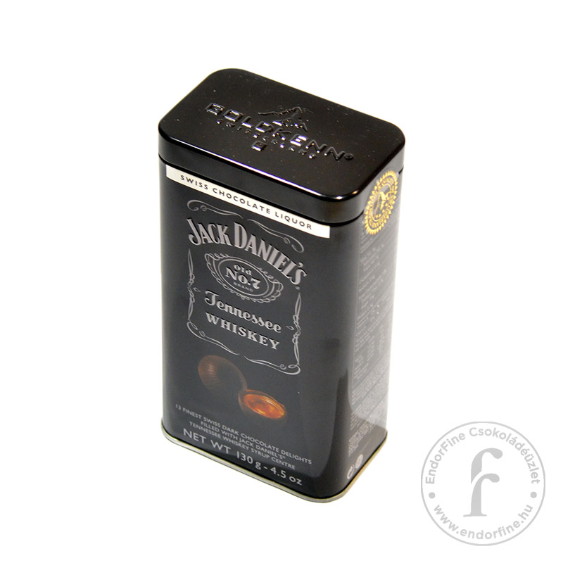 Goldkenn Jack Daniel's whiskyvel töltött étcsokoládé golyók fémdobozban 130g