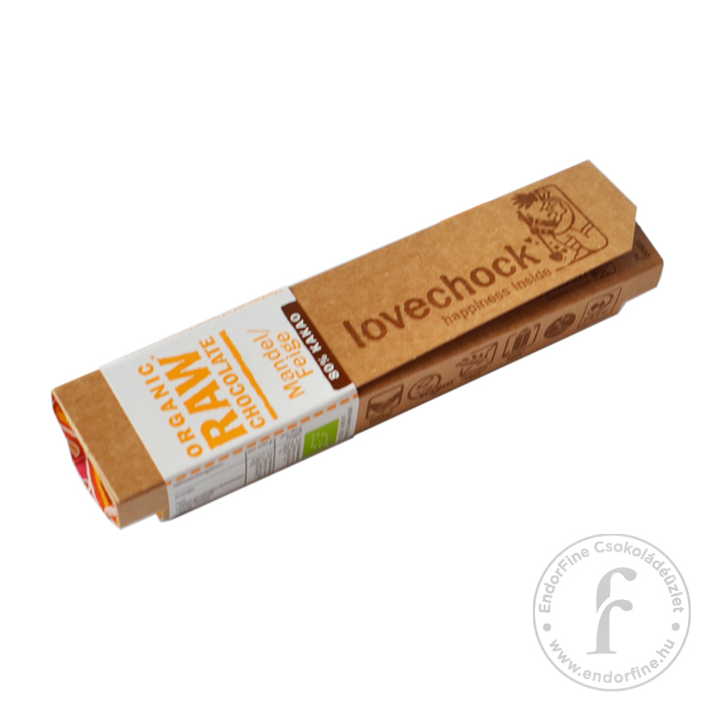 Lovechock mandulás-fügés pörköletlen (RAW) 80%-os étcsokoládé szelet 40g