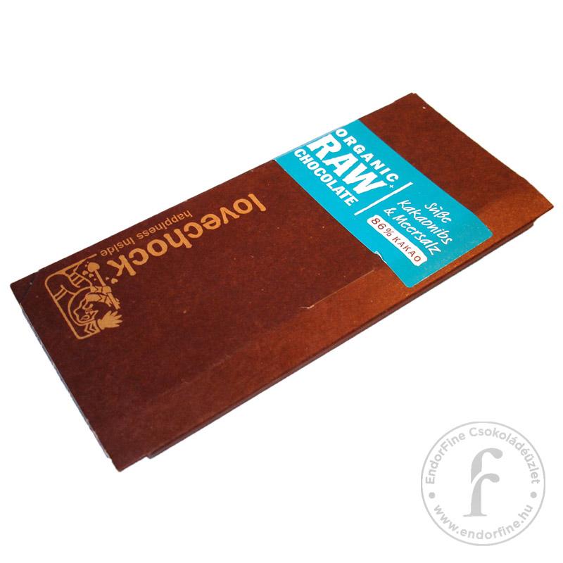 Lovechock Kakaóbab-töretes - sós pörköletlen (RAW) 86%-os étcsokoládé 70g