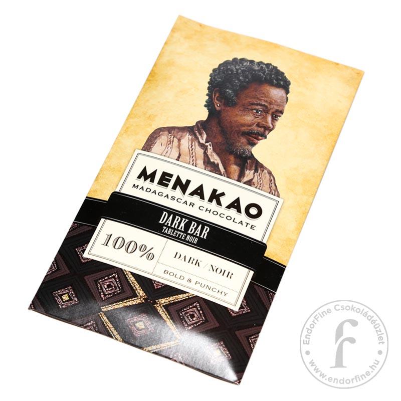 Menakao 100%-os étcsokoládé (Madagascar) 75g