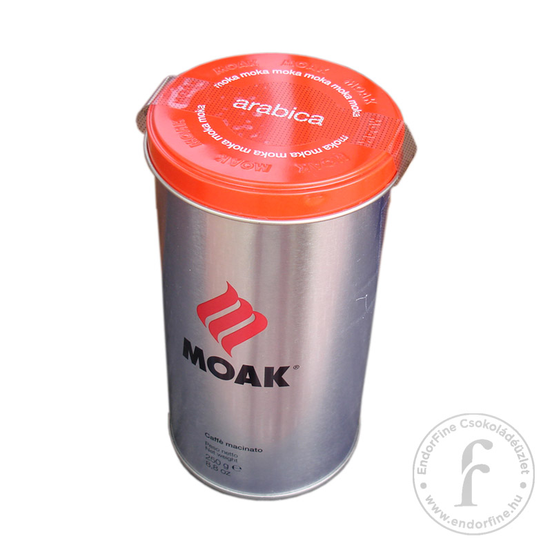 """Moak """"arabica"""" olasz őrölt kávékeverék fémdobozban 250g"""