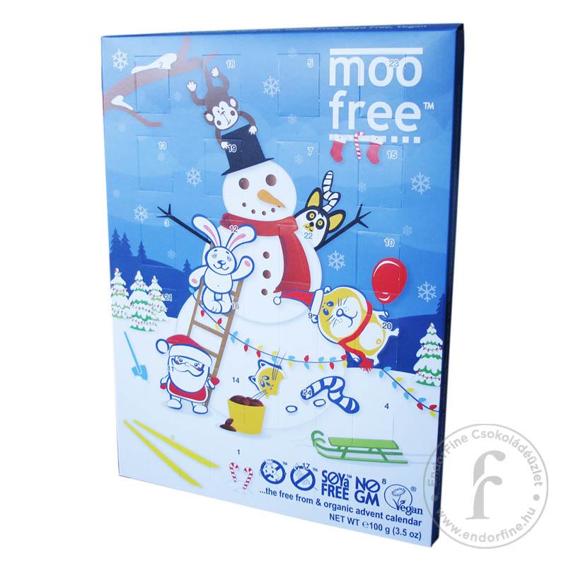 Moo Free 45%-os tejcsokoládé adventi kalendárium rizstejjel 100g