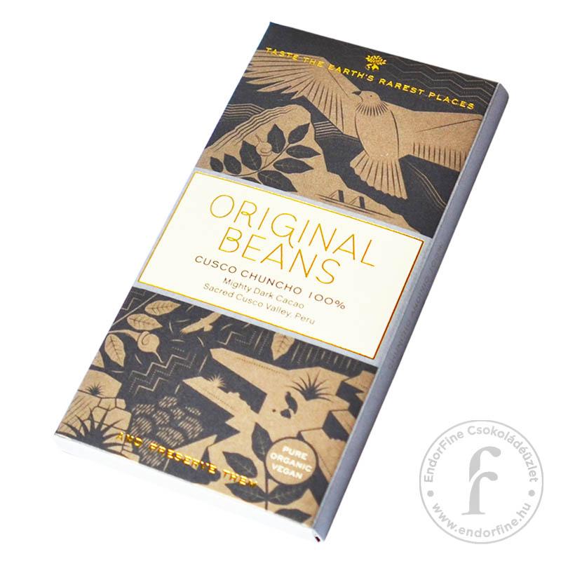 """Original Beans """"Cusco Chuncho"""" 100%-os étcsokoládé 70g"""