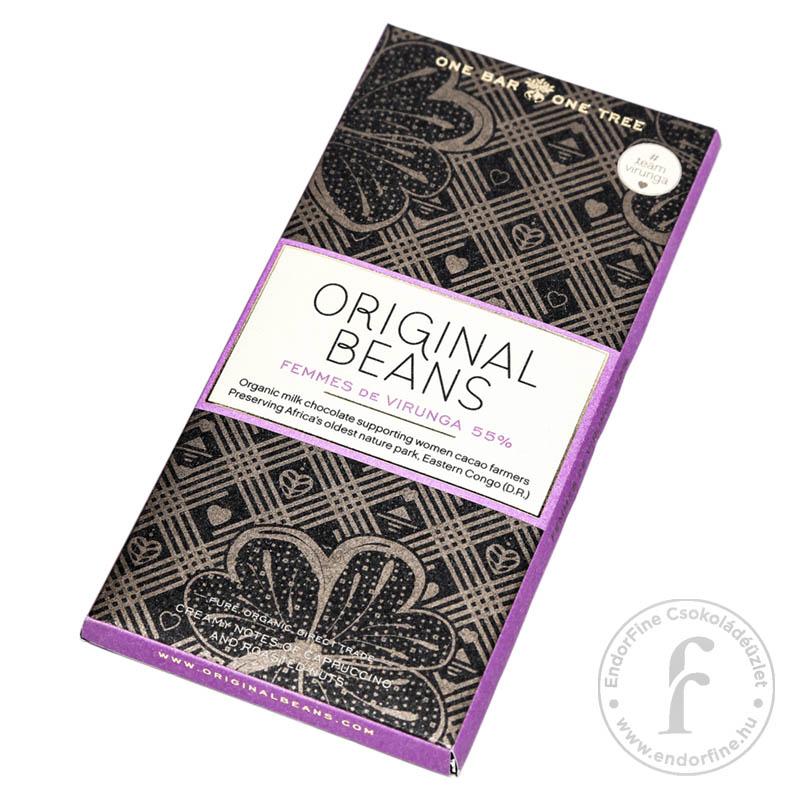 """Original Beans """"Femmes de Virunga"""" 55%-os tejcsokoládé 70g"""