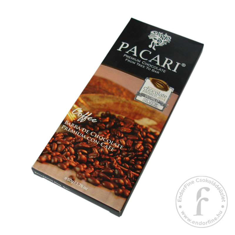 Pacari Kávés 60%-os étcsokoládé 40g