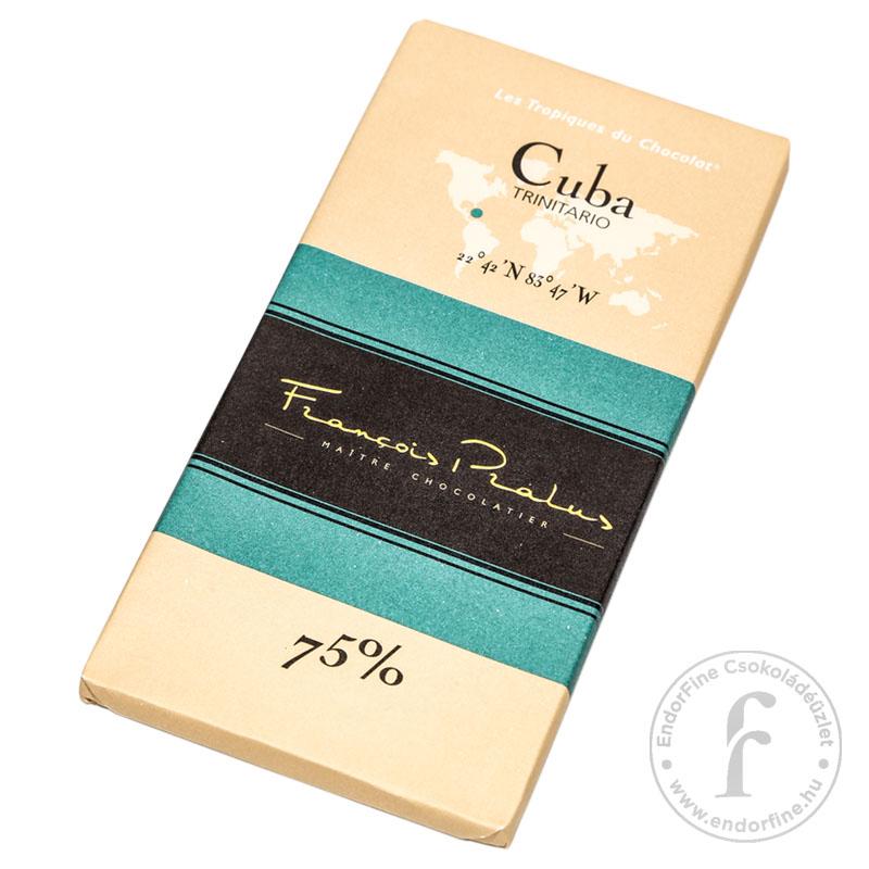 Pralus 75%-os étcsokoládé (Cuba) 100g