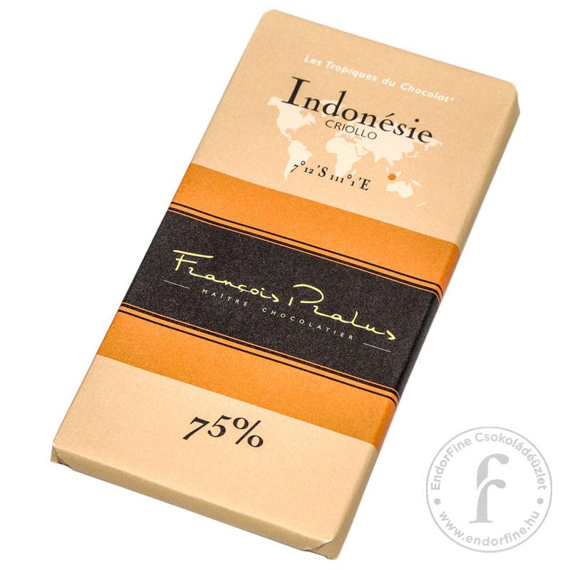 """Pralus """"Indonesia"""" 75%-os étcsokoládé 100g"""