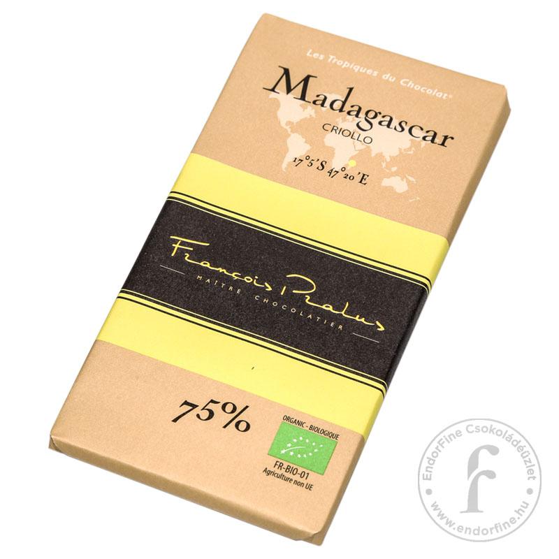 Pralus 75%-os étcsokoládé (Madagascar) 100g