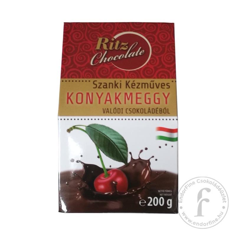 Ritz Chocolate Kézműves konyakmeggy étcsokoládéban 200g