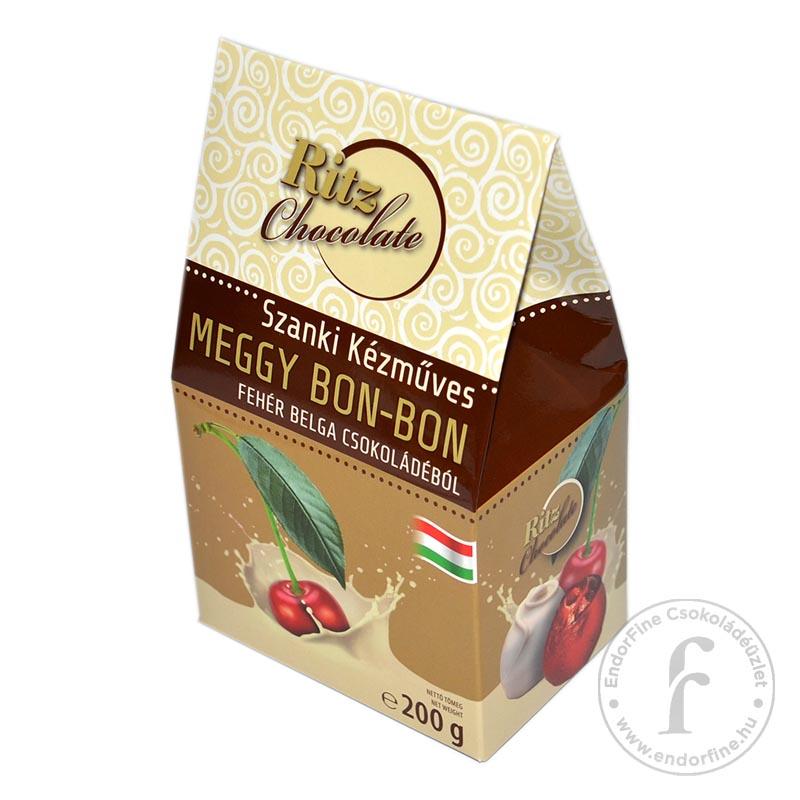 Ritz Chocolate Kézműves konyakos meggy fehércsokoládéban 200g