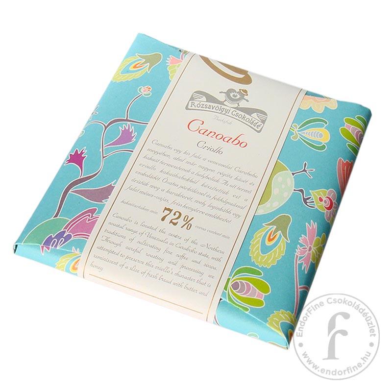 Rózsavölgyi Canoabo 72%-os étcsokoládé 70g