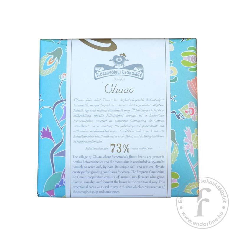 Rózsavölgyi Chuao 73%-os étcsokoládé 70g