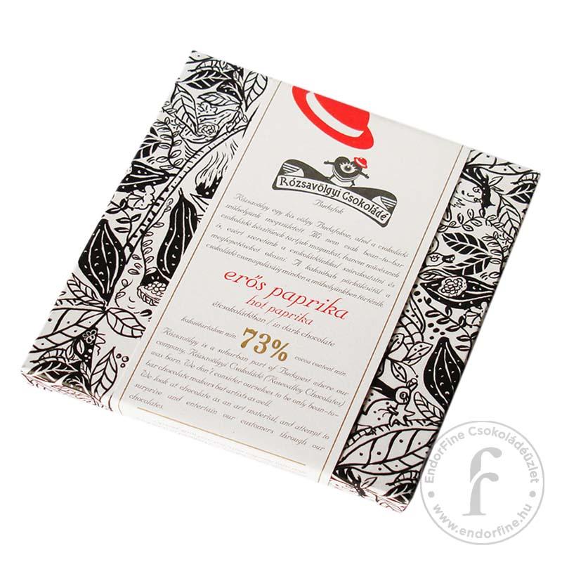 Rózsavölgyi Erőspaprikás 73%-os étcsokoládé 70g