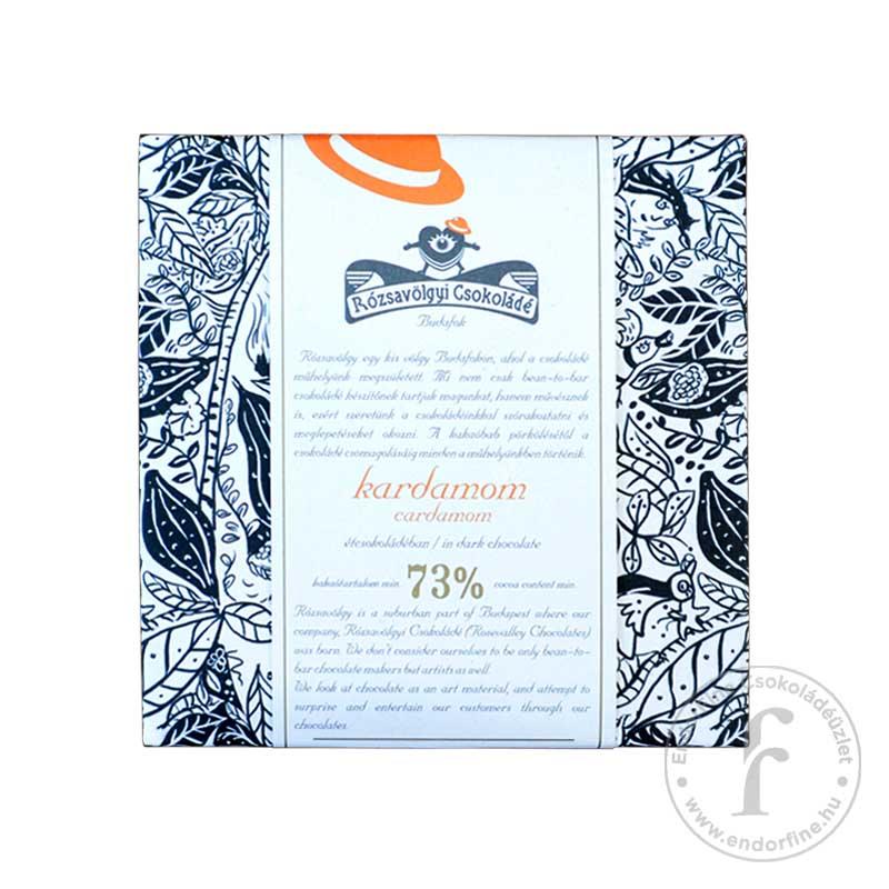 Rózsavölgyi Kardamomos 73%-os étcsokoládé 70g