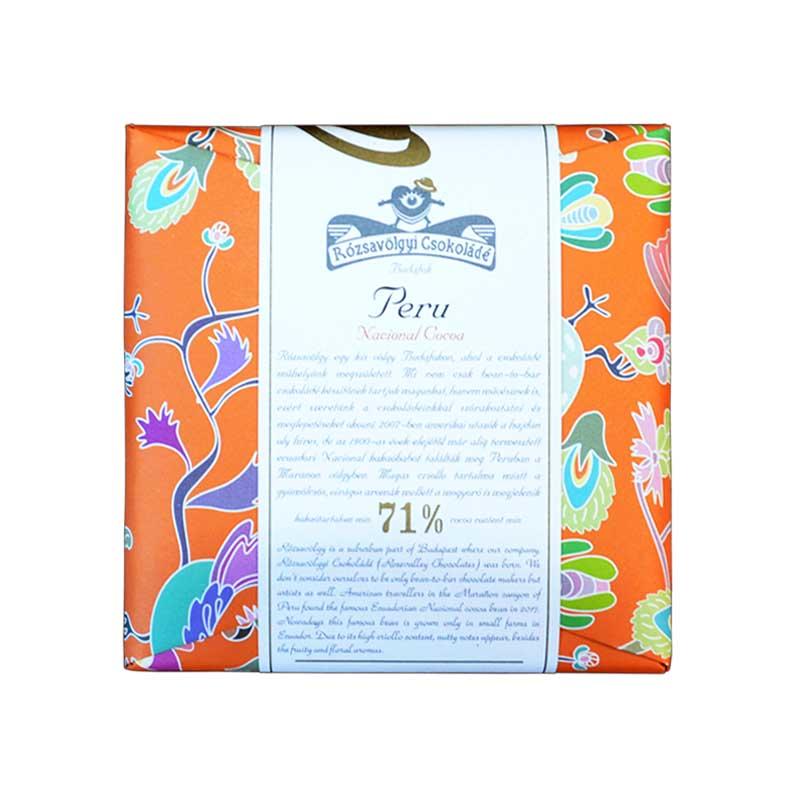 Rózsavölgyi Peru 71%-os étcsokoládé 70g
